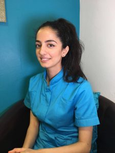 Amina, dental student at Bury Dental Centre